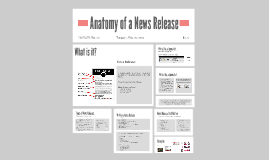 Anatomy of a News Release