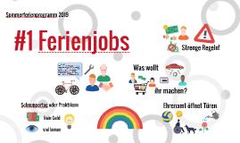 #1 Ferienjobs