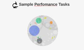 Sample Perfomance Tasks