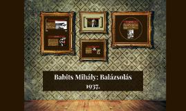 Babits Mihály: Balázsolás