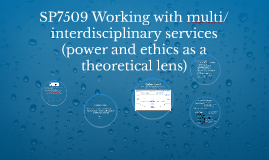 SP7509 Working with multi/interdisciplinary services (power