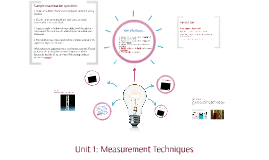 Unit 1: Experimental Techniques
