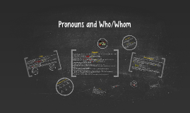 Pronouns and Who/Whom