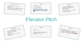 Career Coaching Elevator Pitch