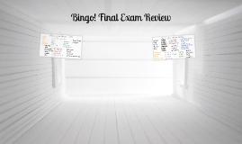 Bingo - Final Review