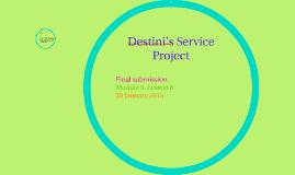 Destini's Service Project