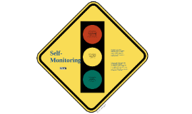 Self-Monitoring for Students