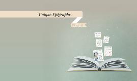 Unique Epigraphs