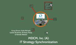 Copy of MDCM, Inc. (A):