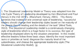 The situational  leadership model or theiora kg agkjlajgkajg