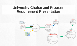 University Choice and Program Requirement Presentation