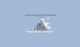 Community based Charity assignment