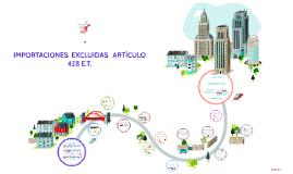 IMPORTACIONES  EXCLUIDAS   ARTÍCULO 428 E.T.