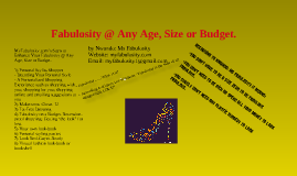 Fabulosity @ Any Age, Size or Budget