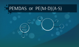 PEMDAS  or  PE(MD)(AS)