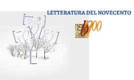 LETTERATURA DEL NOVECENTO