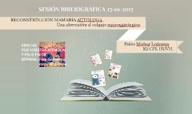 SESIÓN BIBLIOGRÁFICA 27/01/2017