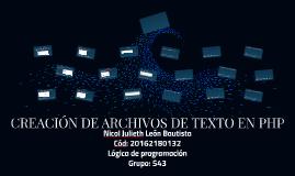 ARCHIVOS DE TEXTO EN PHP