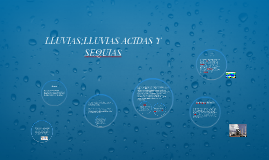 LLUVIAS;LLUVIAS ACIDAS Y SEQUIAS