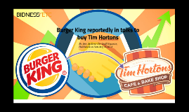 Burger King reportedly in talks to buy Tim Hortons