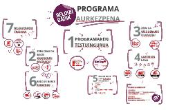 Beldur Barik programaren aurkezpena 2017