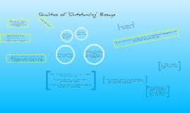 Qualities of Outstanding Essays