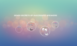7 secrets of successful speakers