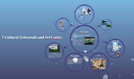 7 Cultural Universals and Sri Lanka