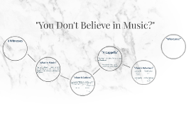 You Don't Believe in Music?