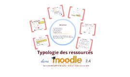 Typologie des ressources dans Moodle