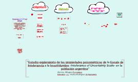"""Copy of """"Estudio exploratorio de las propiedades psicométricas de la"""