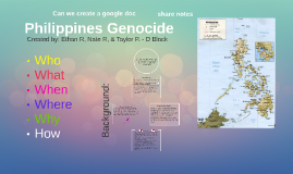 Philippines Genocide