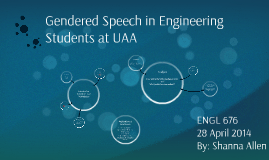 Gendered Speech in Engineering Students at UAA