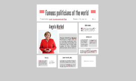 Famous politicians of the world