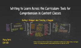 Copy of Writing to Learn Across the Curriculum: Tools for Comprehens