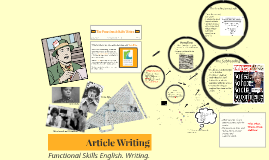 Copy of Copy of Article Writing. Functional Skills