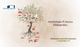 Metodologie di ricerca bibliografica