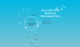 Copy of Close and Critical Reading of Informational Text