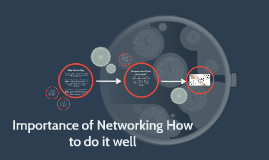 Importance of Networking How to do it well
