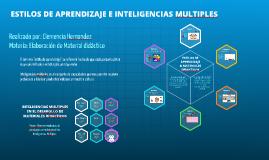 Copy of ESTILOS DE APRENDIZAJE E INTELIGENCIAS MULTIPLES