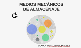 MEDIOS MECÁNICOS DE ALMACENAJE