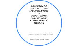 PROGRAMA DE DESARROLLO DE LAS HABILIDADES DEL PENSAMIENTO PA