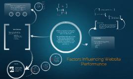 Copy of Factors Influencing Website Performance