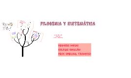 FILOGENIA Y SISTEMÁTICA