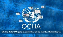 Oficina de la ONU para la Coordinación de Asuntos Humanitari