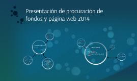 Presentación de procuración de fondos y página web 2014