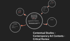 Contextual Studies - Contemporary Art Contexts -Critical Rev