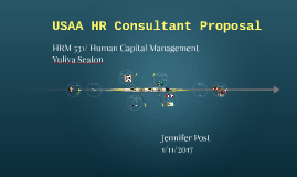 USAA HR Consultant Proposal