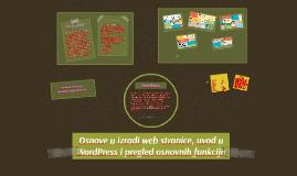 Osnove u izradi web stranice, i uvod u WordPress, pregled os
