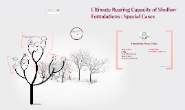 Ultimate Bearing Capacity of Shollow Foundations : Special Cases